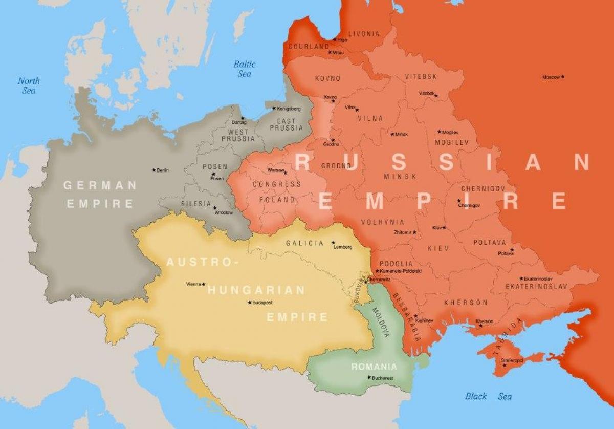 Mapa Polski 1900 Mapa Polski 1900 Mapa Polski 1900 Europa